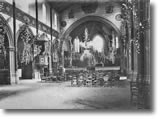 The interior of the church of Francescas in 1960